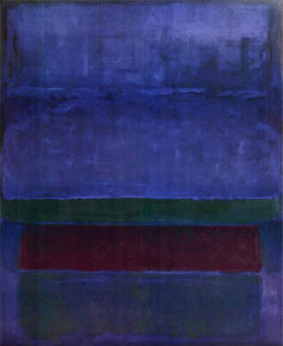 Blue, Green, and Brown Mark Rothko
